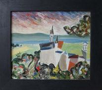 Malerei, Landschaft, Perspektive