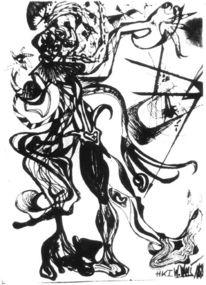 Grafik, Skizze, Monster, Menschheit