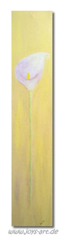 Landschaft, Blumen, Calla, Malerei