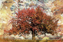 Digital, Surreal, Herbst, Baum