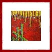 Baum, Wald, Abstrakt, Grüen