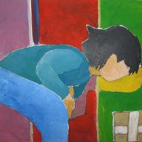 Kind, Malerei, Figural, Menschen