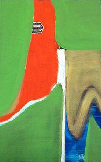 Pferde, Abstrakt, Weiß, Malerei