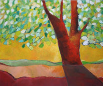 Baum, Landschaft, Sommer, Platz
