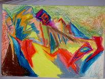 Surreal, Malerei, Berge, Gesicht