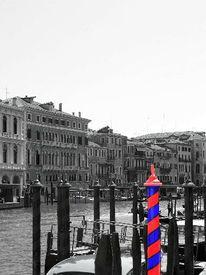Fotografie, Abstrakt, Venedig, Canale