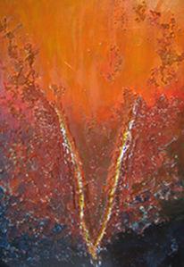 Abstrakt, Silverline, Verborgen, Malerei