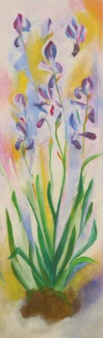 Pflanzen, Acrylmalerei, Malerei, Iris