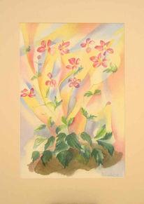 Aquarellmalerei, Grafik, Blumen, Aquarell