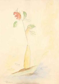Blumen, Grafik, Zeichnungen, Rose