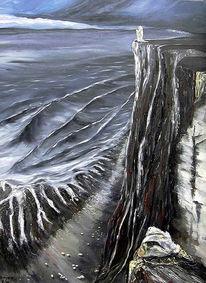 Malerei, Meer, Engel, Zeit