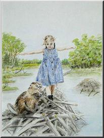 Sumpf, Märchen, Kinderbuch, Mädchen