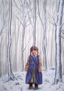 Wald, Allein, Fantasie, Acrylmalerei
