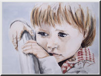 Junge, Augen, Mädchen, Portrait