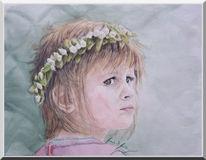 Augen, Kinder, Portrait, Blumen