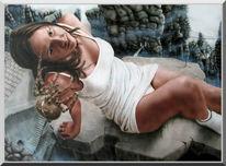 Acrylmalerei, Shaktyri, Felsen, Fantasie