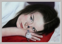 Acrylmalerei, Zwerg, Mädchen, Aquarellmalerei