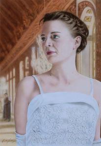 Acrylmalerei, Portrait, Frau, Palast