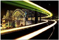 Nachtaufnahme, Brücke, Stadt, Köln