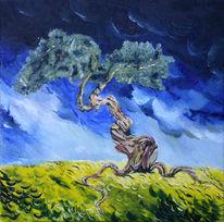 Versetzen, Surreal, Landschaft, Baum