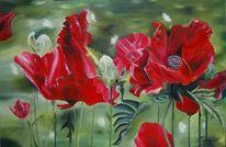 Blumen, Farben, Malerei, Figural