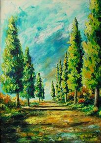 Landschaft, Malerei, Spaziergang