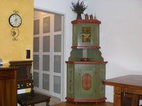 Eckvitrine, Holz, Malen, Kunsthandwerk