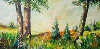 Landschaft, Malerei, Tal