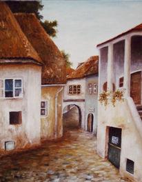 Malerei, Landschaft, Früh