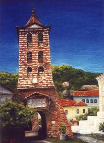 Landschaft, Malerei, Kirche
