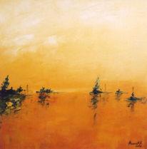 Landschaft, Malerei, Moor
