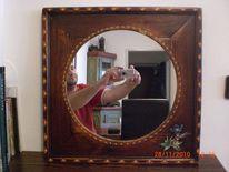 Malen, Holz, Spiegel, Kunsthandwerk