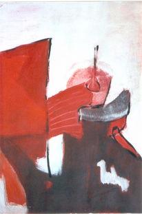 Abstrakt, Malerei, Gefangen