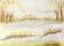 Landschaft, Jahreszeiten, Winter, Malerei