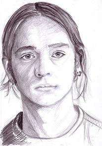 Portrait, Selbstportrait, Römer, Zeichnung