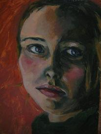 Malerei, Figural, Portrait, Selbstportrait
