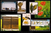 Imker, Wandmalerei, Honig, Werbegestaltung
