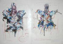 Malerei, Abstrakt, Sängerin