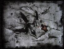 Surreal, Vogel, Malerei, Menschen