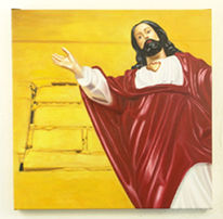 Rot, Jesus, Ölmalerei, Gelb