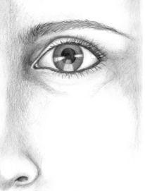 Bleistiftzeichnung, Skizze, Malerei, Augen