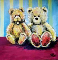 Stofftiere, Teddies, Bär, Malerei
