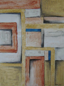 Erde, Landschaft, Abstrakt, Malerei