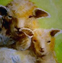 Haus, Malerei, Schaf, Figural