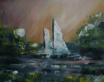 Meer, Natur, Landschaft, Malerei