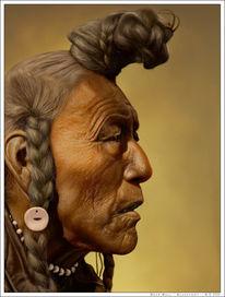 Häuptling, Digital, Indianer, Western
