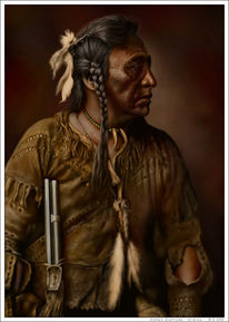 Figural, Federschmuck, Indianer, Wilder