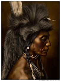 Häuptling, Figural, Wilder, Indianer
