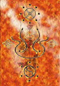 Acrylmalerei, Spirituell, Malerei, Abstrakt