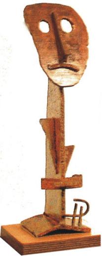 Kunsthandwerk, Figur, Metall, Stahlblech
